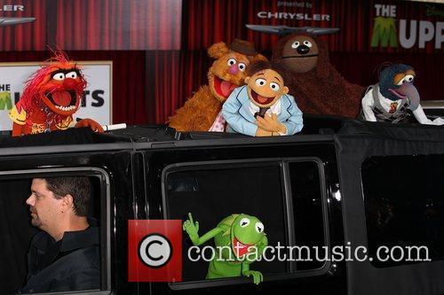 (L-R) Animal, Kermit the Frog, Fozzie Bear, Walter,...
