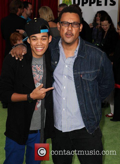 Roshon Fegan and dad The premiere of Walt...