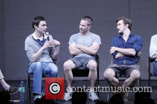 Jim Parsons, Luke Macfarlane and Lee Pace Post-show...