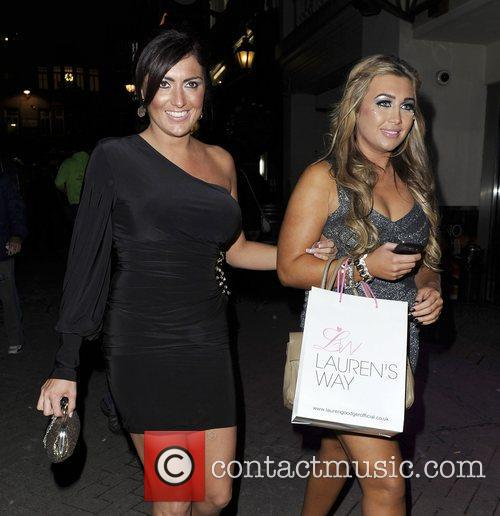 Lauren Goodger and Nicola Goodger at The Only...