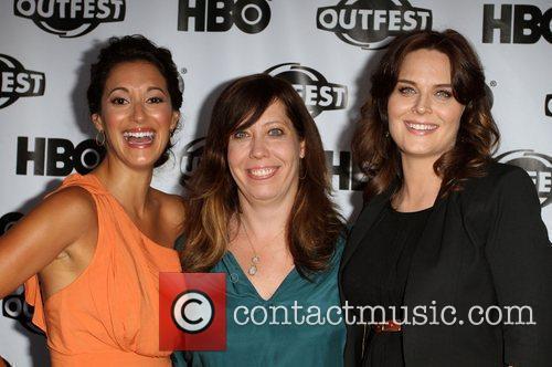 Angelique Cabral, Kirsten Schaffer and Emily Deschanel 2011...