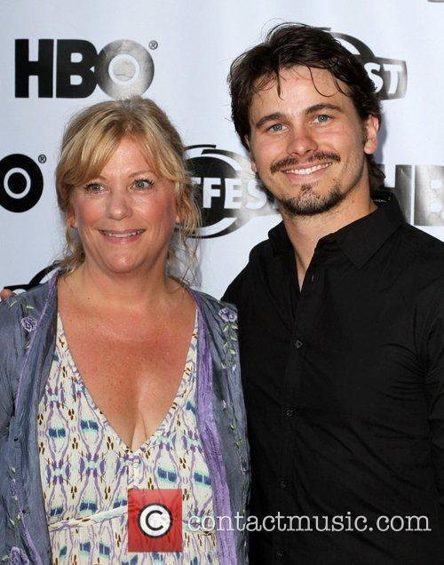 Connie Cummings and actor Jason Ritter 2011 Outfest...