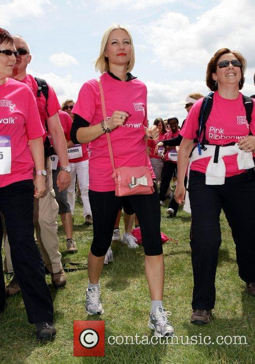 Denise van Outen Pink Ribbonwalk 2011 in aid...