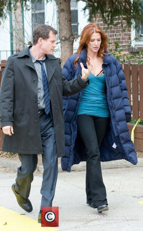 Dylan Walsh and Poppy Montgomery The cast of...