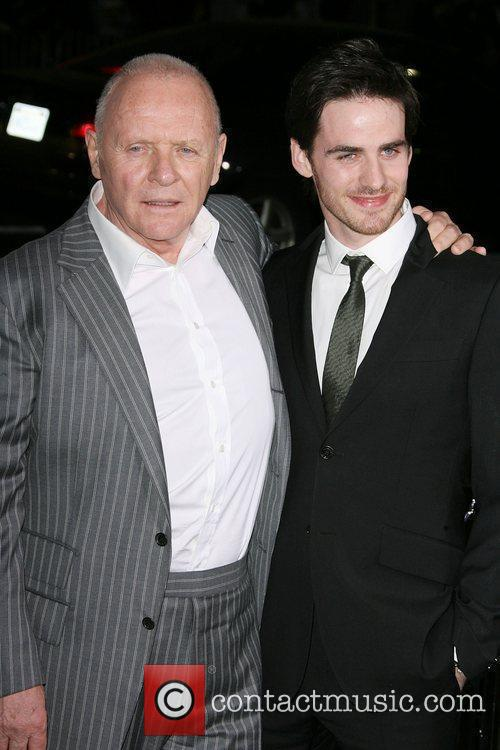 Anthony Hopkins and Colin O'Donoghue Los Angeles Premiere...