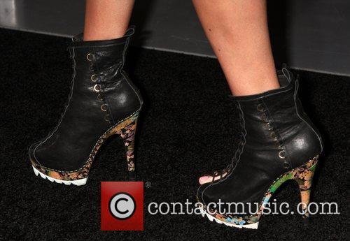 Emily Burgl - shoes Los Angeles Premiere of...