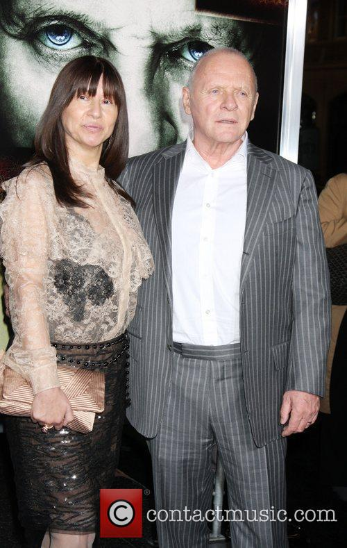 Stella Arroyave and Anthony Hopkins Los Angeles Premiere...