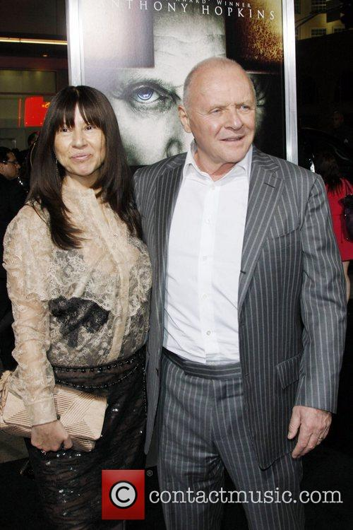 Actor Anthony Hopkins and Stella Arroya Los Angeles...