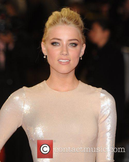 Amber Heard at the premiere of Rum Diary...