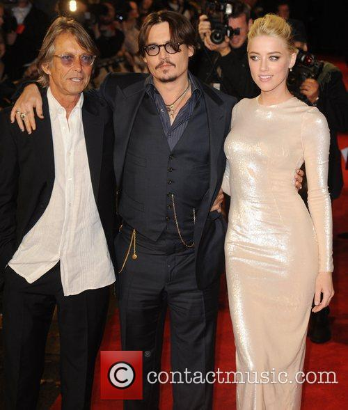Bruce Robinson, Amber Heard and Johnny Depp 5