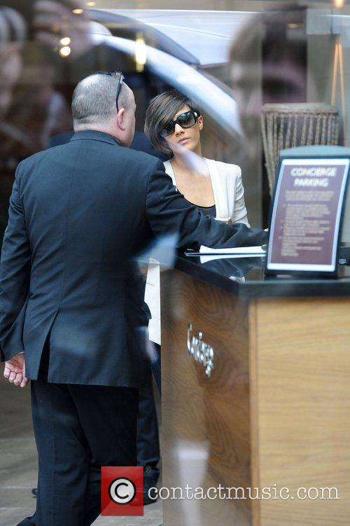Frankie Sandford The Saturdays leave their hotel in...