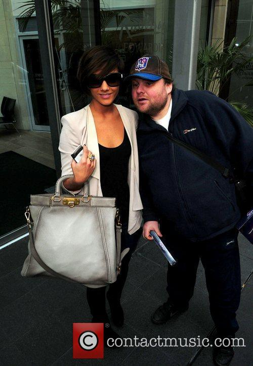 Frankie Sandford with fan Stephen Jones The Saturdays...