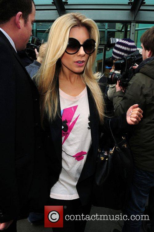 Mollie King The Saturdays leave their hotel in...