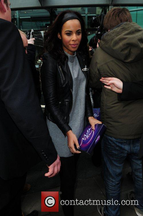 The Saturdays leave their hotel in Manchester and...