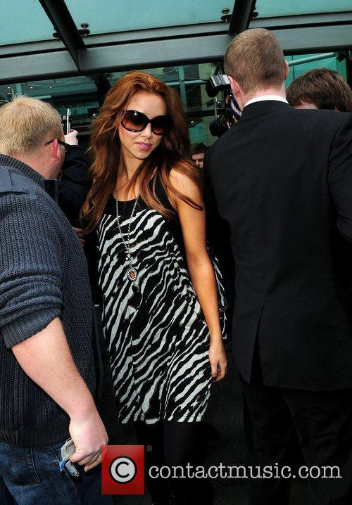 Una Healy The Saturdays leave their hotel in...