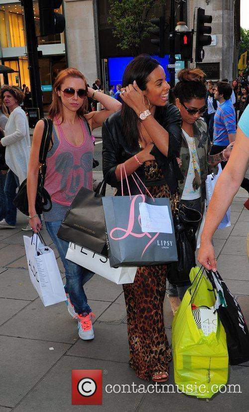 'The Saturdays' out shopping in central London