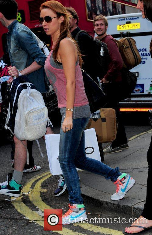 Una Healy 'The Saturdays' out shopping in central...