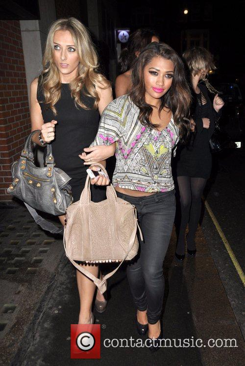Leaves Chinawhite nightclub with friends