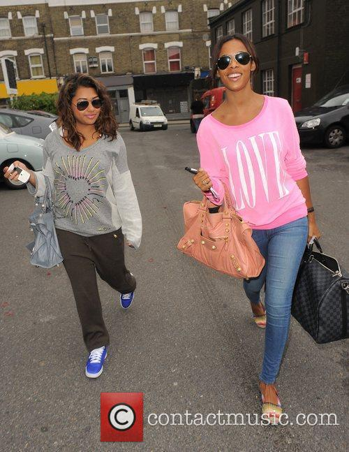Vanessa White and Rochelle Wiseman from girl group...