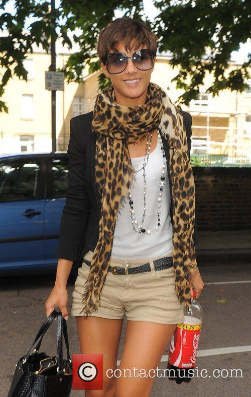 Frankie Sandford from girl group The Saturdays arrives...
