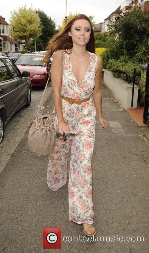 Una Healy from girl group The Saturdays leaving...