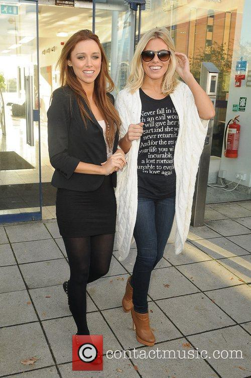 'The Saturdays' at Key 103 radio studios as...
