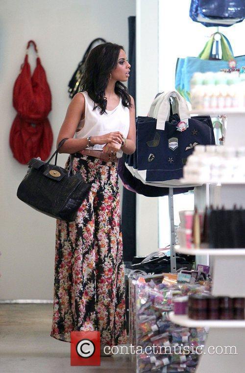 Rochelle Wiseman,  shopping at Kitson on Robertson...
