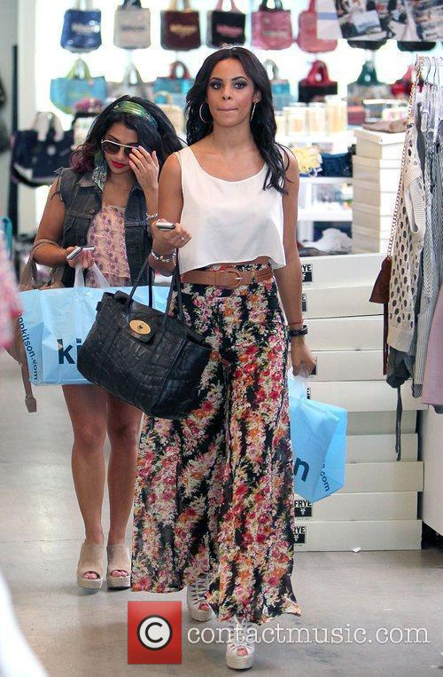 Vanessa White and Rochelle Wiseman,  shopping at...