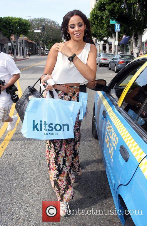 Rochelle Wiseman leave Kitson on Robertson Boulevard after...