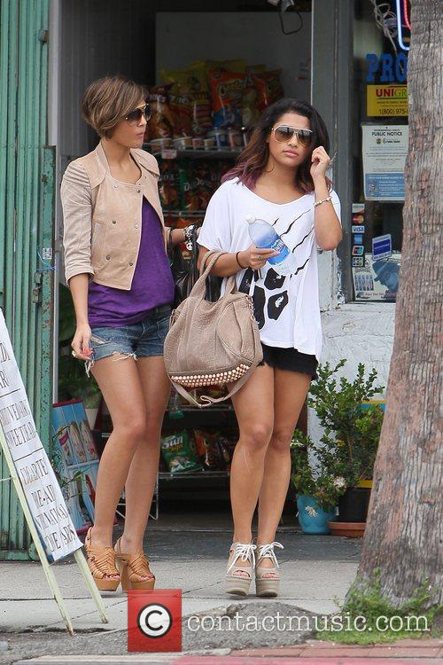 Frankie Sandford and Vanessa White of The Saturdays...