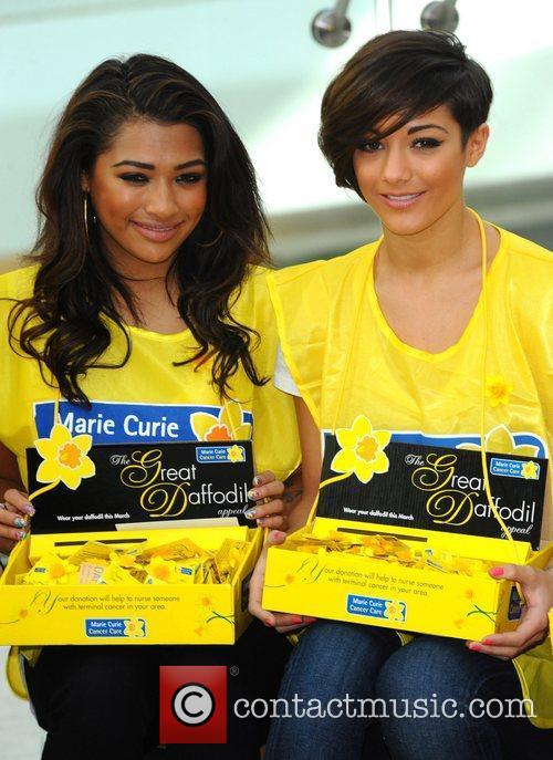 Vanessa White and Frankie Sandford The Saturdays attend...