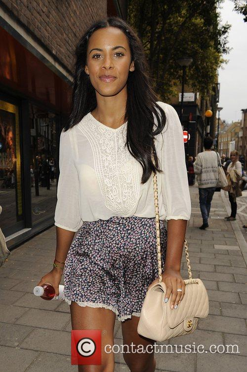 Rochelle Wiseman from girl group The Saturdays leaving...
