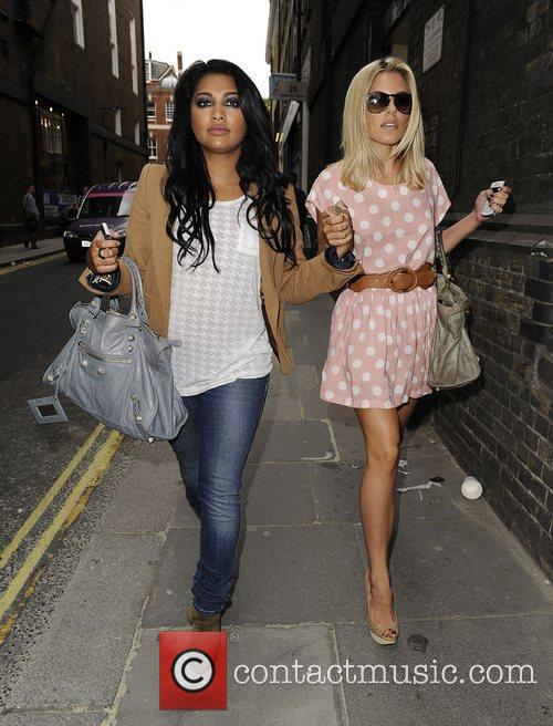 Mollie King, The Saturdays and Vanessa White 5