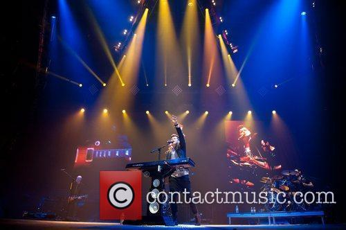 Irish band The Script in concert at the...