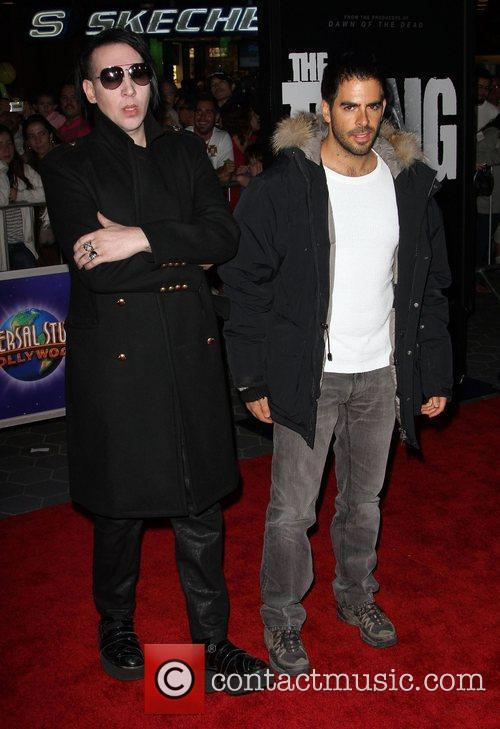 Eli Roth and Marilyn Manson 7