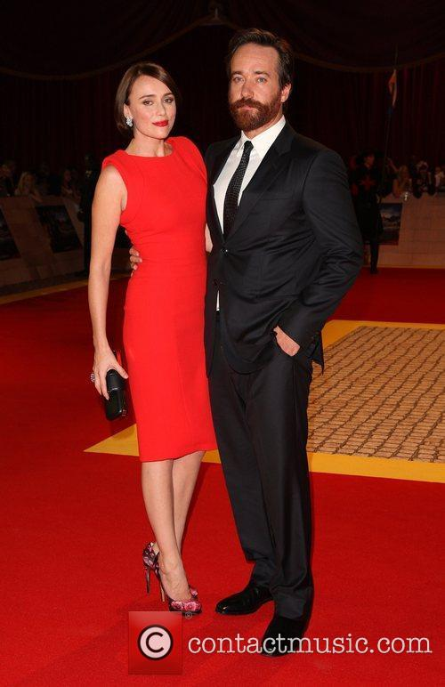 Keeley Hawes and husband Matthew Macfadyen 'The Three...