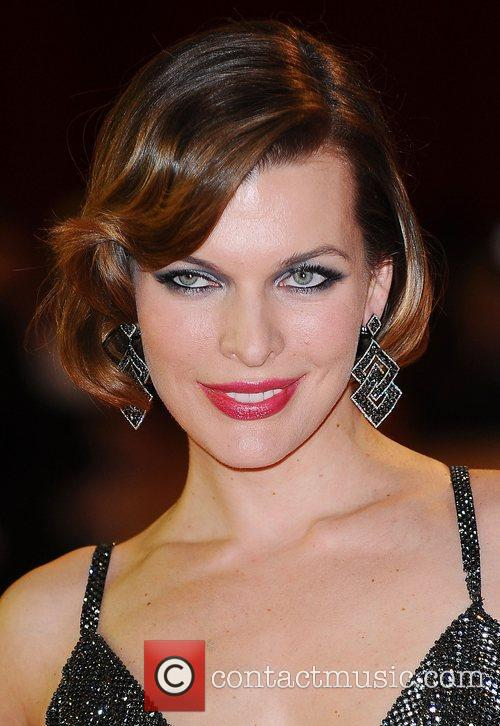Milla Jovovich at the premiere of The Three...