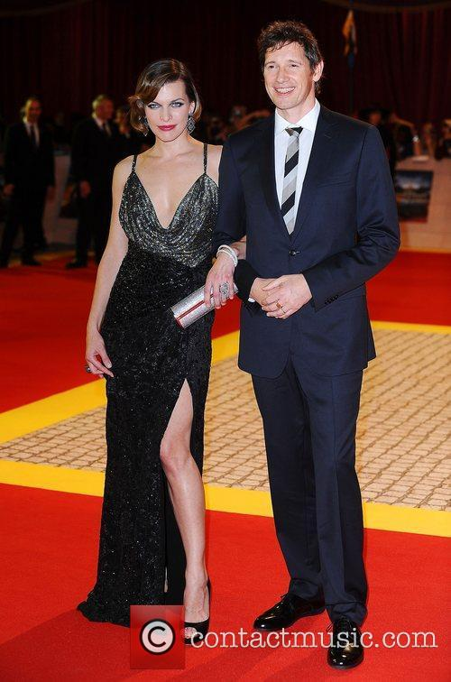 Milla Jovovich and Paul WS Anderson at the...