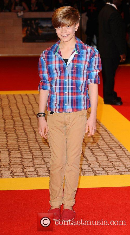 Ronan Parke at the premiere of The Three...