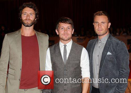 Take That at the premiere of The Three...