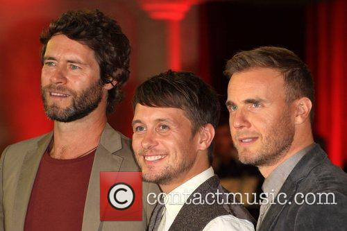 Howard Donald, Mark Owen and Gary Barlow of...