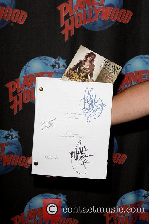 Signed script for 'Mega Python vs. Gatoroid' Tiffany...