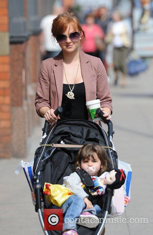 Tina O'Brien with daughter Scarlett out and about...