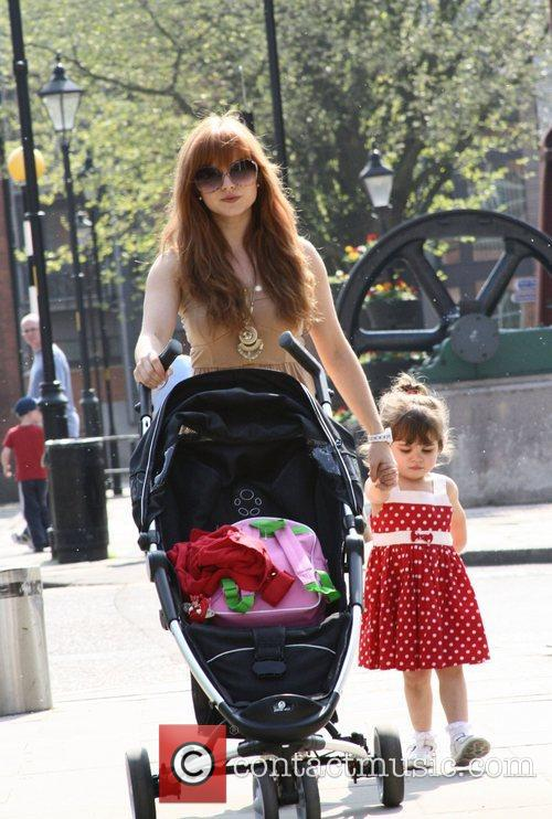 Tina O'Brien out and about with her children...