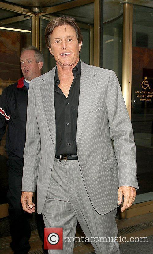 Bruce Jenner at NBC studios for an appearance...