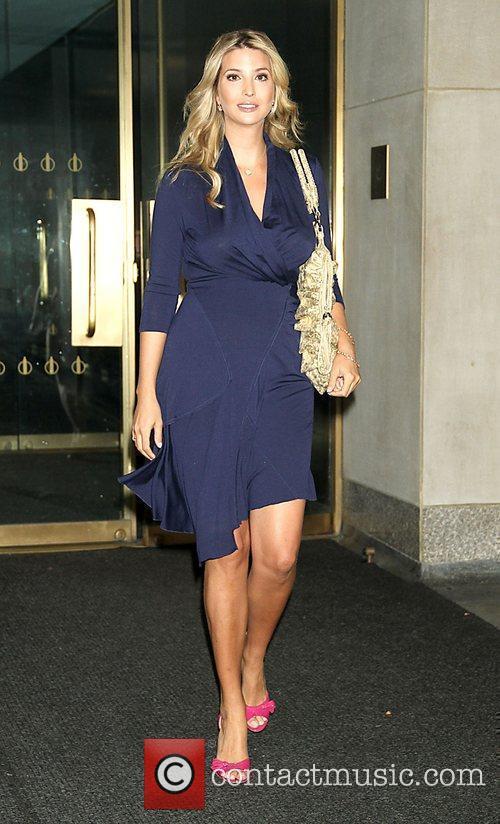 Ivanka Trump Celebrities at the NBC studios to...