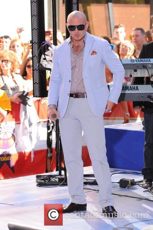 Pitbull  performing at the Toyota Concert Series...