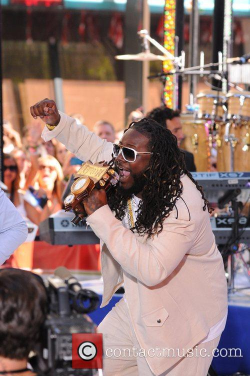 T.Pain  performing at the Toyota Concert Series...