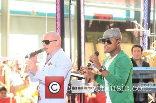 Pitbull, Ne-Yo performing at the Toyota Concert Series...
