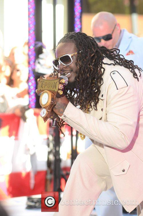 T-Pain performing at the Toyota Concert Series at...